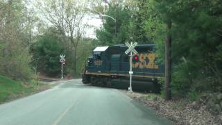 getlinkyoutube.com-CSX B724 Crossing Brigham Street through Northborough, MA in High Definition!