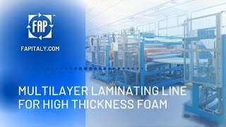 Laminator for high LDPE foam sheets (thickness 10-25 mm of 1 layer) in one step