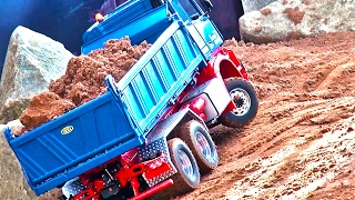 getlinkyoutube.com-RC Truck MB Arocs! ConstructionWorld! Liebherr! MAN! CAT-Dumper! ScaleART!