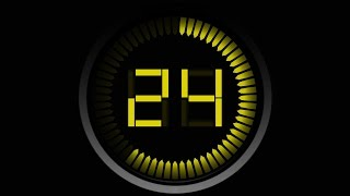 COUNTDOWN TIMER 60 sec ( v 570 ) 1 min timer in 8k with sound effects!