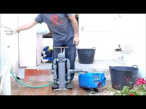 Bomba de agua manual doble impulsión casera