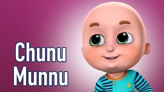 getlinkyoutube.com-Chunu Munnu The Do Bhai - Hindi Rhymes | Nursery rhymes compilation from Jugnu Kids