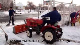 getlinkyoutube.com-Hóeltakarítás, eladó Yanmar YM1401D és Komondor STL-125 tolólap / Snow plow, blade, snow cleaning