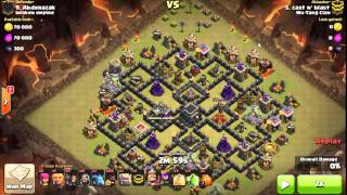 getlinkyoutube.com-Shattered Surgical Hogs. Max TH9. 3 star hog pathing. Clan War