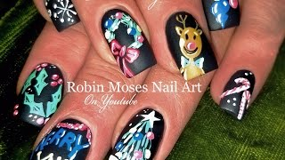 getlinkyoutube.com-DIY Easy Christmas Nails | Chalkboard Nail Art Design Tutorial