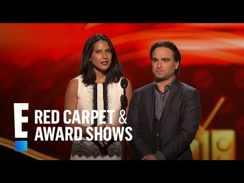 Johnny Galecki and Olivia Munn present at People's Choice Awards 2013
