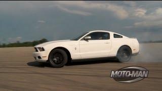 getlinkyoutube.com-Vaughn Gittin Jr Teaches MotoMan How To Drift A Ford Mustang