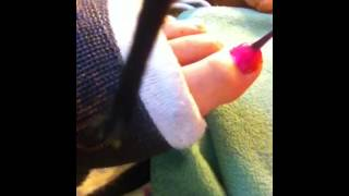 Painting my nails IN SEXY black long leg cast llc