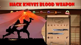 getlinkyoutube.com-Shadow Fight 2 weapon - Hack Knives bleeding in shadow fight 2 weapon updated 1.9.25