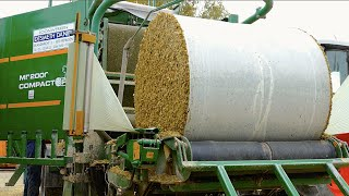 getlinkyoutube.com-Baling and Wrapping Maize Silage | Orkel MP2000 Compactor | Marla bvba