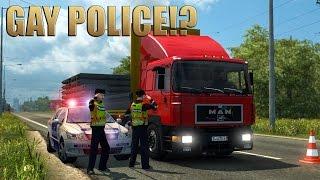 getlinkyoutube.com-ETS2 MAN F90 & POLICE! (Euro Truck Simulator 2)