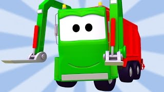 getlinkyoutube.com-The Garbage Truck Compilation of Car City : Cars & Trucks construction cartoons for children