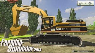 getlinkyoutube.com-LS Farming Simulator 2013 Cat 345B Excavator