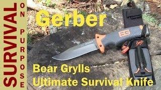getlinkyoutube.com-Gerber Bear Grylls Ultimate Survival Knife Review