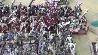 getlinkyoutube.com-Kings of War Undead VS Orcs 1500points
