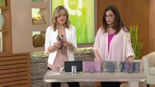 getlinkyoutube.com-Aimee Kestenberg Pebble Leather Pouch w/ Charger on QVC