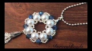 getlinkyoutube.com-Doreenbeads Jewelry Making Tutorial - How to Make Bead Snowflake Pendant Necklace