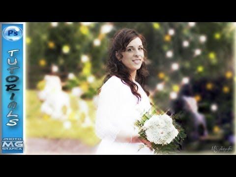 FOTO DA MATRIMONIO EFFETTO RAGGI DI LUCE(PHOTO WEDDING EFFECT OF LIGHT RAYS ) -ENGLISH SUB-