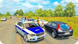 getlinkyoutube.com-Skoda Police Driving ETS2 (Euro Truck Simulator 2)