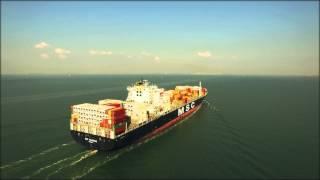 getlinkyoutube.com-Phantom 3 Professional - Container ship MSC Maureen 4K