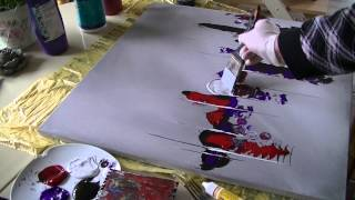 getlinkyoutube.com-Acrylmalerei abstract acrylic painting Demo Abstraktes Bild malen /spachteln -spackle