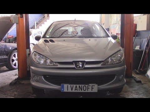 Ремонт автомобиля Peugeot 206, демонтаж покраска и монтаж  переднего и заднего бампера