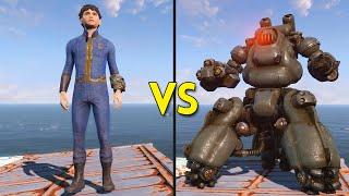 getlinkyoutube.com-Fallout 4 - 200 Kids VS 25 Sentry Bots - Battles #3