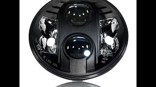 getlinkyoutube.com-GENSSI 7 Inch Projector LED Headlight DOT Road Legal