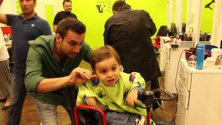 getlinkyoutube.com-Majed's First Haircut