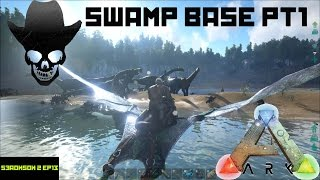 getlinkyoutube.com-Ark: Survival Evolved - METAL SWAMP BIOME BASE BEGINNINGS (Ark Season 2 Ep 13)