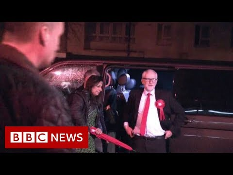 BBC News:Jeremy Corbyn arrives at count in Islington - BBC News