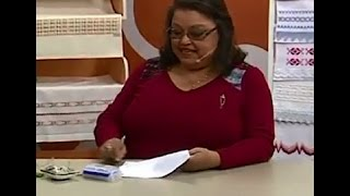 getlinkyoutube.com-Toalha de Lavabo em Ponto Reto com Falso Crivo com Leila Jacob | Vitrine do Artesanato na TV
