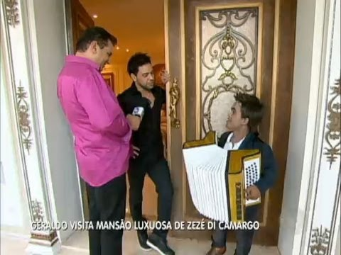 Geraldo visita a mansão de Zezé Di Camargo