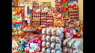 getlinkyoutube.com-1500 Киндер Сюрпризов - Моя Коллекция!!!! 1500 Kinder Surprise Eggs!!! My Super Giant Collection.