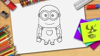 getlinkyoutube.com-Hoe teken je een minion? Zelf minions leren tekenen