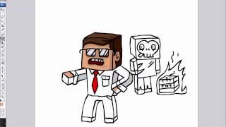 getlinkyoutube.com-MinecraftRocket สอนวาดรูปการ์ตูน มายคราฟ EP.4