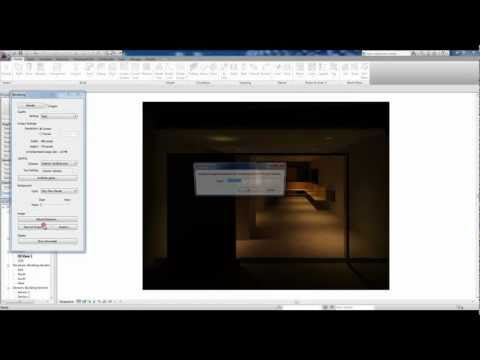Night Rendering & Artificial Lighting [Revit Architecture 2011]