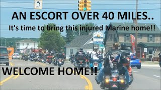 getlinkyoutube.com-MARINE HOMECOMING - POLICE & MOTORCYCLE ESCORT| Jason Asselin