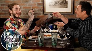 Post Malone Takes Jimmy Fallon to Olive Garden width=