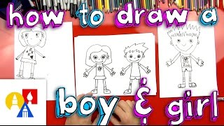 getlinkyoutube.com-How To Draw A Boy And A Girl