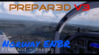 getlinkyoutube.com-Prepar3D V3 | Norway ENBR Flesland - Bergen | Amazing Environment ! | NVIDIA GTX 980Ti  | GER |