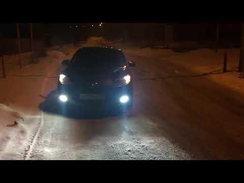 Mazda 3 диодный лампы в дальнем.