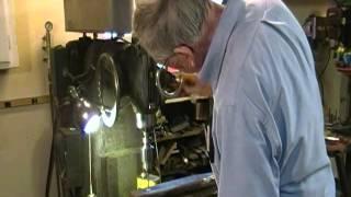 getlinkyoutube.com-Rail Anvil Hardy Hole Making