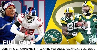 getlinkyoutube.com-Giants Upset Brett Favre in Lambeau | Giants vs. Packers 2007 NFC Championship | NFL Full Game