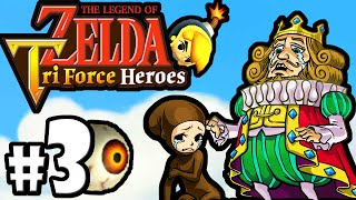The Legend of Zelda Triforce Heroes PART 3 Gameplay Walkthrough Online Co-Op (BOSS Margoma) 3DS