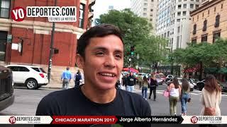 Jorge Alberto Hernández Maratonista de Monterrey en Chicago Marathon 2017