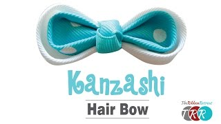 getlinkyoutube.com-How to Make a Kanzashi Hair Bow - TheRibbonRetreat.com