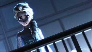 getlinkyoutube.com-[MMD Frozen Helsa] High School Musical (When Elsa sings during Hans game)