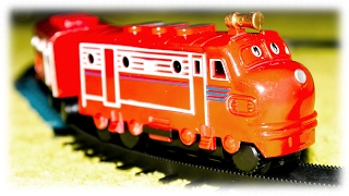 getlinkyoutube.com-TRAINS FOR CHILDREN VIDEO: Chuggington Toys Train Wilson Review Chinese Fake