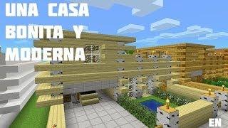 getlinkyoutube.com-Como hacer una casa BONITA Y MODERNA en Minecraft Pocket Edition